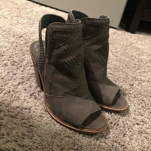 Open toe Vince Camuto booties